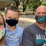family school wearing masks