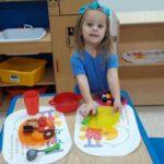 kindergarten playing kitchen