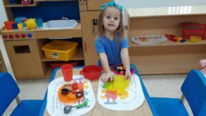 kindergarten playing kitchen
