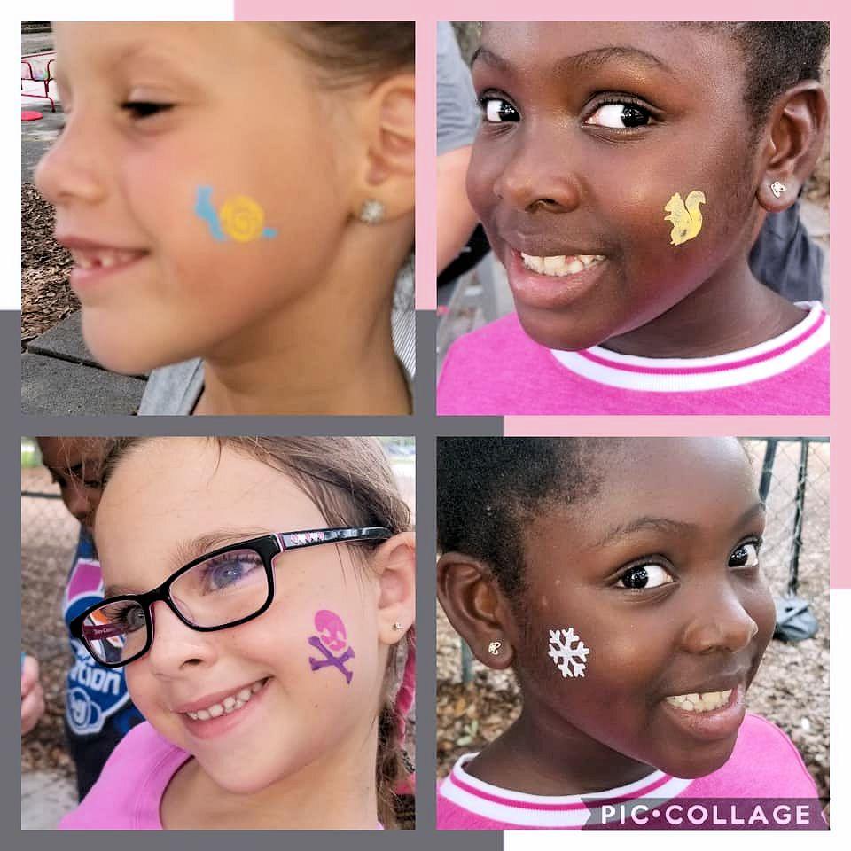 summer sports camp girls face paint