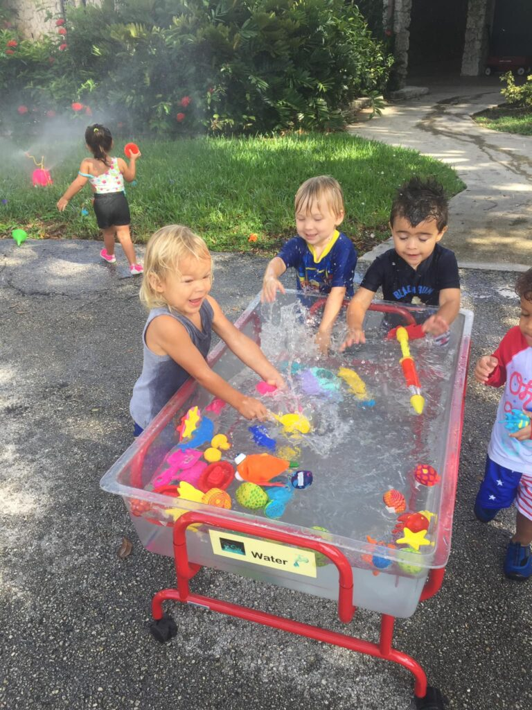 summer sports camp kids water table
